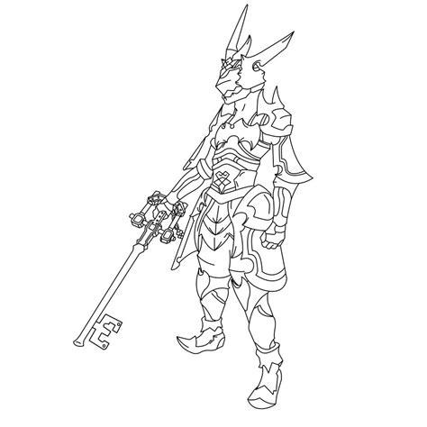 keyblade coloring pages armor of the master dissidia by alvaromero324 on deviantart