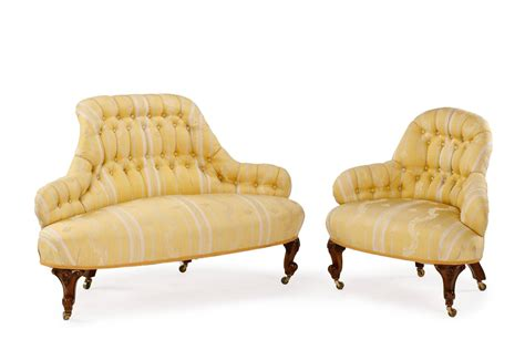 borne settee for sale 19th century upholstered four part quot borne settee quot or round