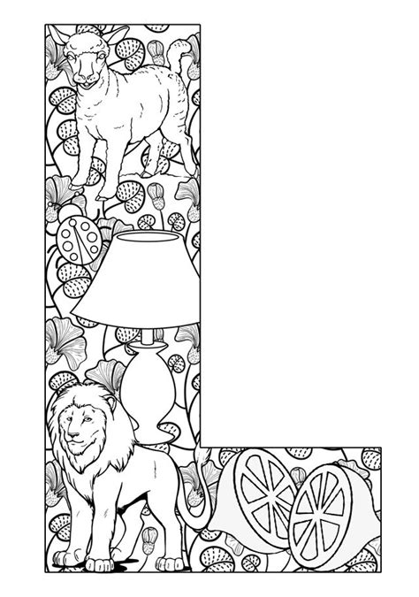 Alphabet L Coloring Pages by Things That Start With L Free Printable Coloring Pages