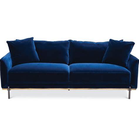 royal blue velvet sofa modern royal blue velvet sofa marseille rc willey