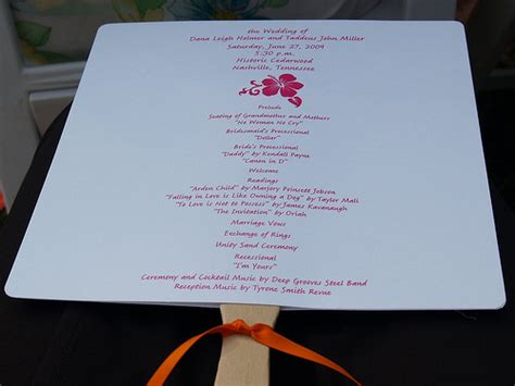 wedding program fans cheap how to make wedding program fans cheap and easy to put