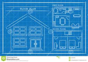 home architect plans blueprint house plan architecture stock vector image