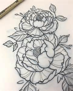 best 25 flower outline tattoo ideas on pinterest