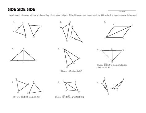 congruent triangles worksheet with answer congruent triangles on triangles geometry and worksheets