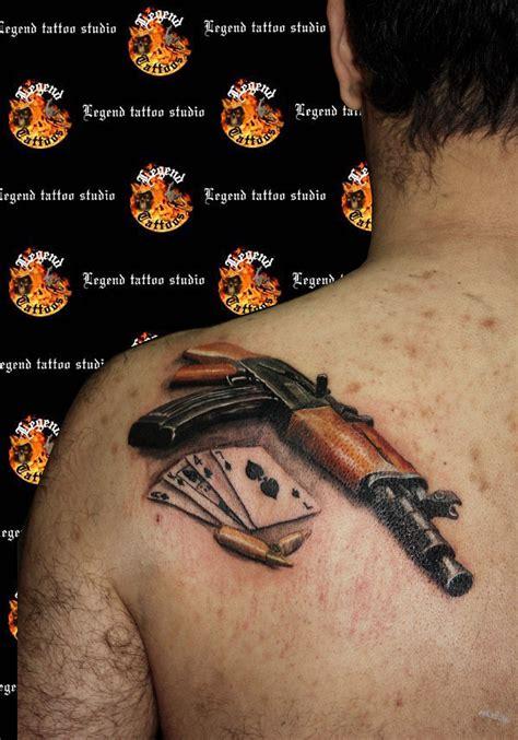 ak tattoo ak 47 gun www legendtattoo gr realistic ak47