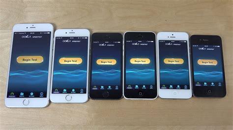 ios 9 beta iphone 6 plus vs iphone 6 vs iphone 5s 5c 5 vs iphone 4s speed test