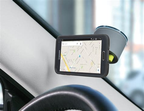 car mounted logitech drive one touch smartphone car mount