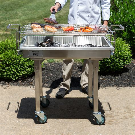 backyard pro grill backyard pro 30 quot stainless steel charcoal grill with