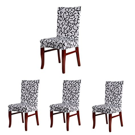 4 x soft fit stretch short dining room chair covers 4 x soft fit stretch short dining room chair covers
