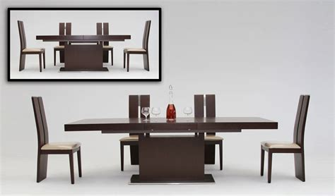 modern dining tables modrest zenith modern oak extendable dining table