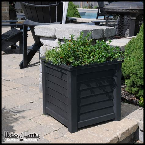 Black Square Outdoor Planters by Home And Garden Planter Black Vinyl Hooks