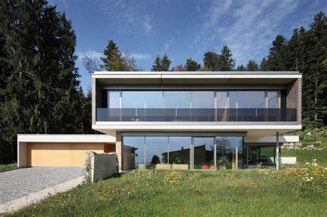 myanmar home design modern contemporary house in austria exhaling transparence with staggering view the mountains