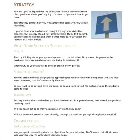 stron biz communication strategy template