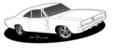 black and white line drawings of cars page 2