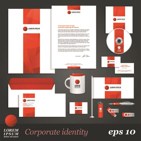 identity design template 8 free vector corporate identity kits creative beacon