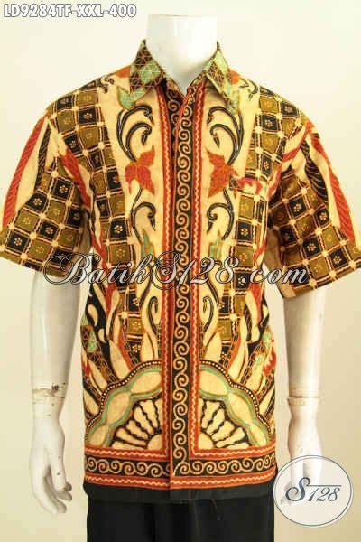 Hem Batik Kemeja Batik Bahan Katun Halus Db4108 1 hem batik big size lengan pendek kemeja batik furing