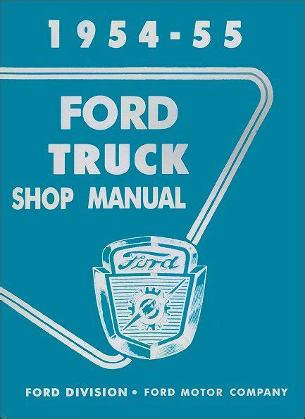 service manual books about how cars work 1954 chevrolet corvette electronic valve timing 1954 1955 ford truck shop manual oem factory service