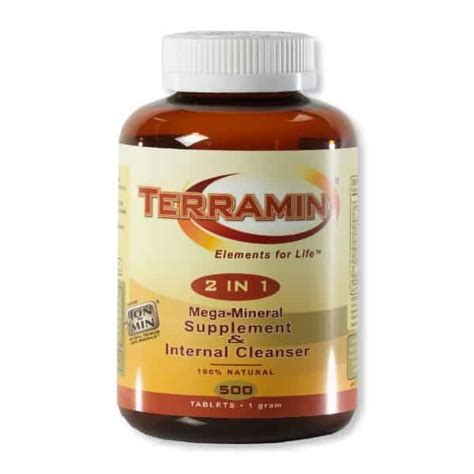 Mineral Detox Booster by Terramin 2 In 1 Mega Mineral Tablets Quantumstones
