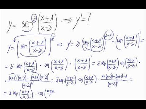 derivada de coseno cuadrado derivada seno al cuadrado de un cociente youtube