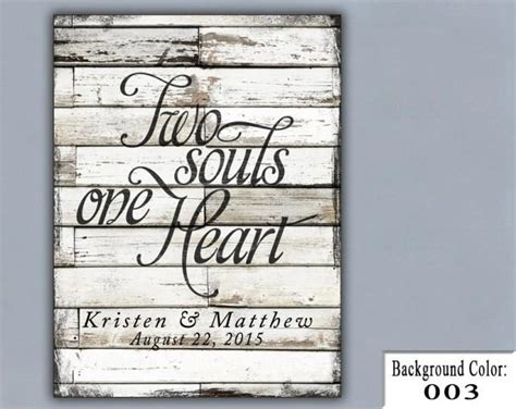 Unique Handmade Wedding Gifts - ts two souls one wedding sign handmade