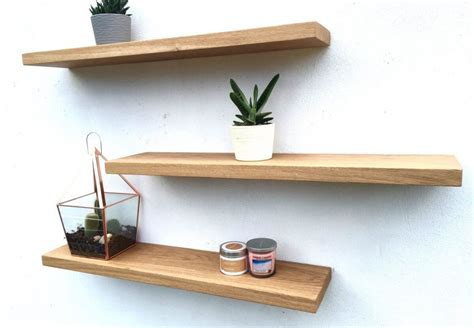 solid oak floating shelves order free brackets