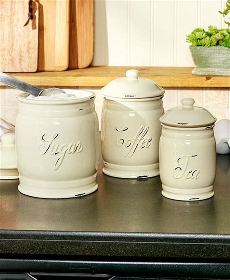 kitchen canister sets ceramic set of 3 embossed ceramic kitchen countertop
