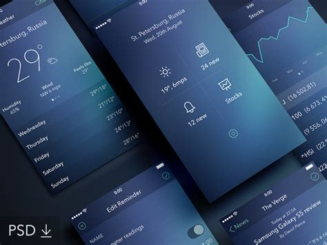 design application psd app design psd