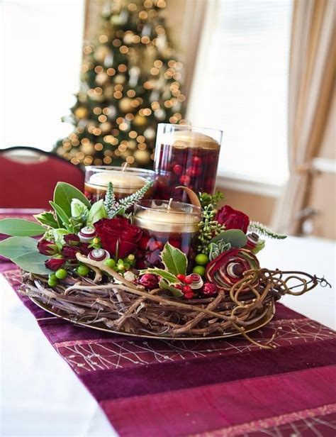 christmas center table decorations 10 centerpieces for a jolly table rilane