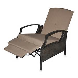 all weather wicker seating cushion outdoor recliner
