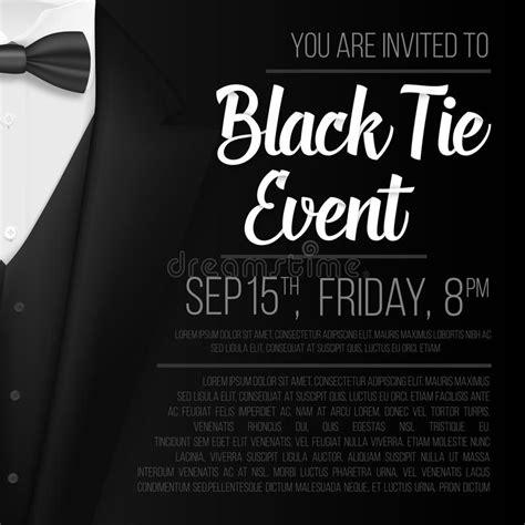 Realistic Vector Black Suit Black Tie Event Invitation Template Vector Mens Suit With Bow Tie Black Tie Event Program Template