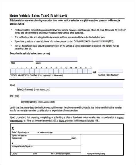 Gift Letter Affidavit affidavit of motor vehicle gift transfer vehicle ideas