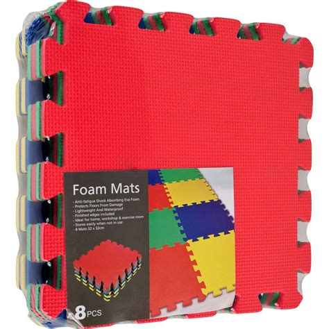 trademark multi color foam exercise mat 8