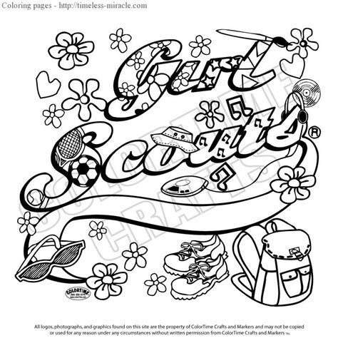 Daisy Girl Scout Coloring Pages Free Scouts Promise Coloring Page Free