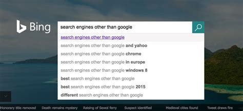 list of search engines other than that drive