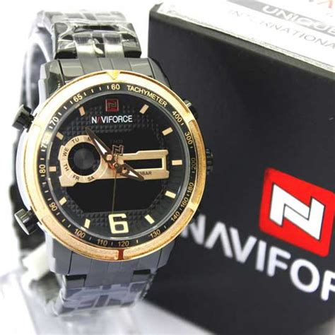 Harga Jam Tangan Merk Naviforce jam tangan naviforce dual time ii original