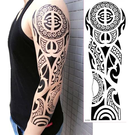 tattoo photo new 2017 2017 new arrive 48 x 16cm cool temporary full arm tattoo