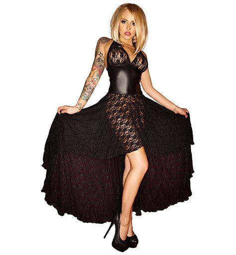 Fashion Ot fashion black halter lace hi lo gown n10518