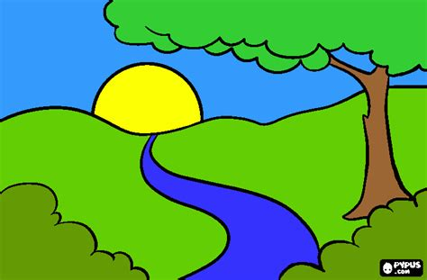 imagenes para dibujar un paisaje paisaje llanero para colorear paisaje llanero para imprimir