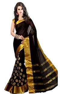Silk Duvet Reviews Buy Black Golden Goli With Embroidery Work Cotton Saree Online