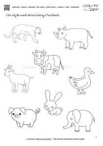 farmer worksheets kindergarten farm animals worksheets