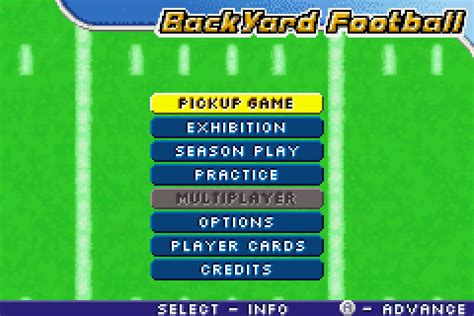 backyard football 2006 backyard football 2006 screenshots gamefabrique
