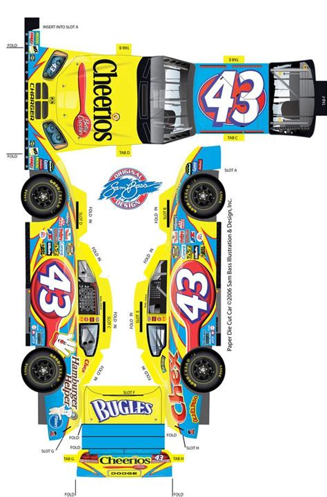 How To Make A Paper Race Car - 1000 images about nascar papercraft on slot