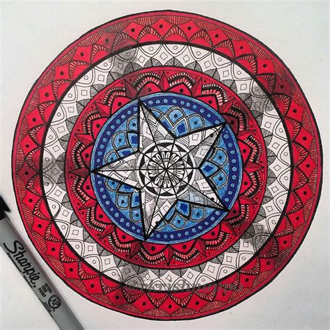 batman mandala tattoo captain america shield mandala hero pinterest 패턴
