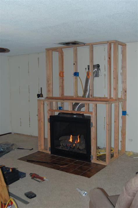 diy gas fireplace surround fireplace