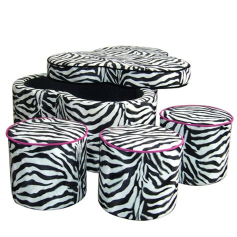 zebra print storage ottoman animal print storage ottoman wayfair