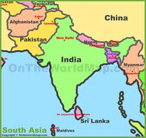 south asia countries map map of south asia southern asia