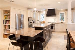 Multi Level Kitchen Island Multi Level Island Kitchen Contemporary Remodeling Ideas