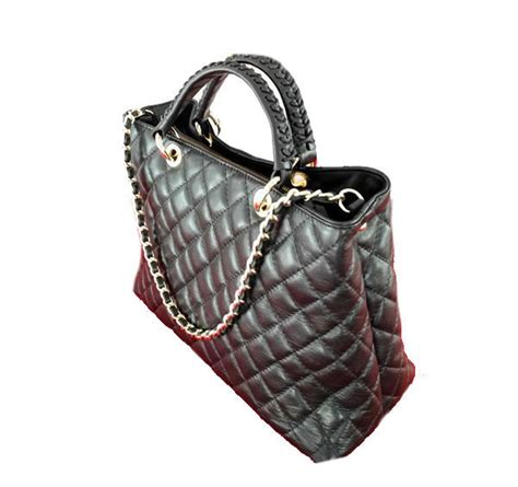 Leather Quilted by Black Leather Quilted Chanel Style Tote Nkd