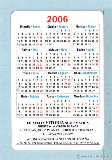 Calendario Ano 2006 Calendario A 241 O 2006 Con Publicidad Vitoria Comprar