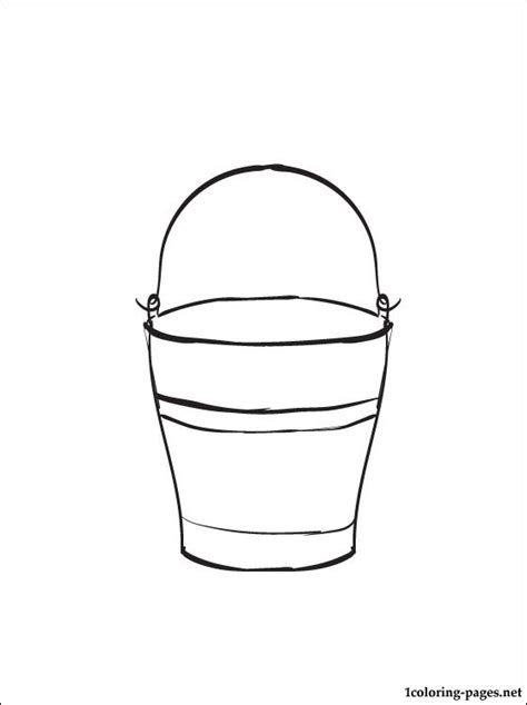 water bucket coloring page water bucket coloring page coloring pages